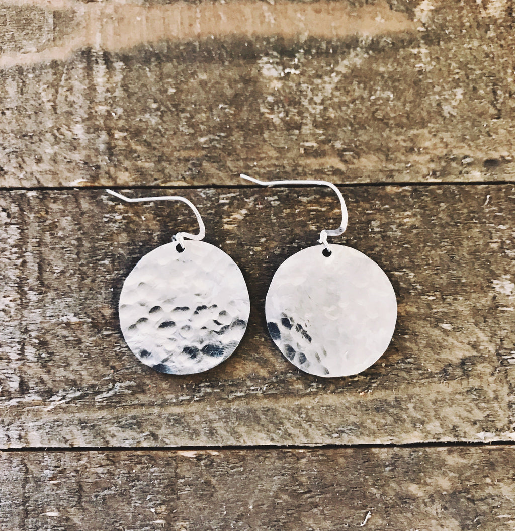 Hammered Circles-small (silver)