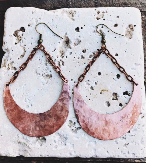 COPPER MOON DROP DANGLES