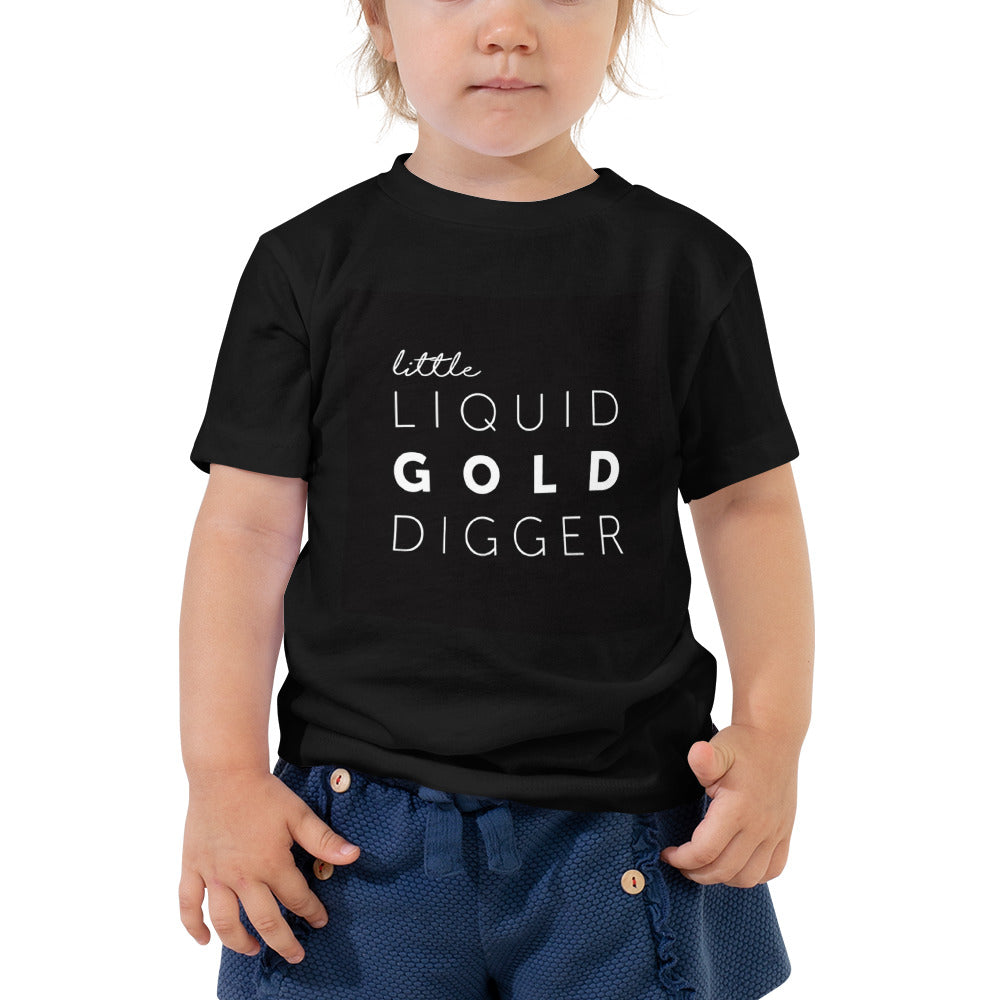 Little Liquid Gold Digger Big Kid Tee