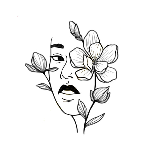 Face Floral 1 by Sherry Ma