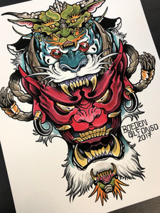 Dragon, Tiger, Hannya Stack by Boeden Alfonso