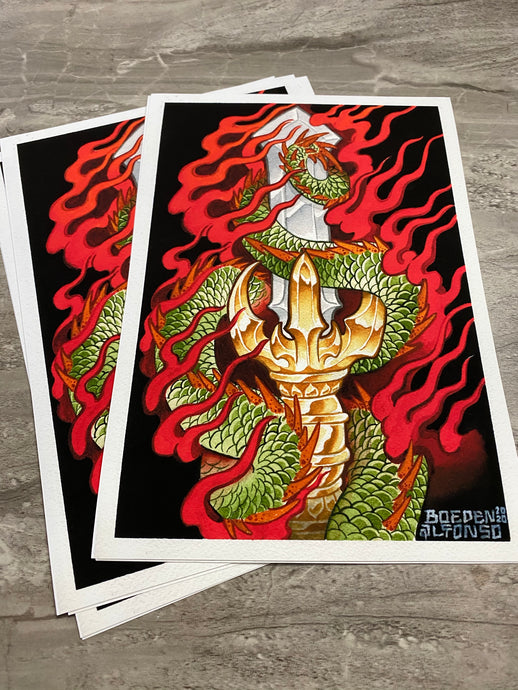 """Dragon Sword"" Limited Print by Boeden Alfonso"