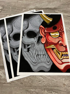"""Skull x Hannya"" Limited Print by Boeden Alfonso"