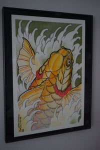 """Golden Koi"" Original Painting by Boeden Alfonso"