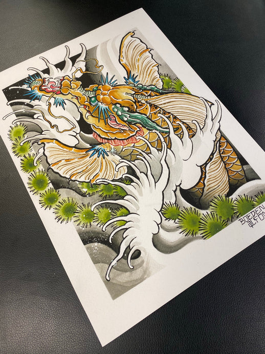 Dragon Koi Print by Boeden Alfonso