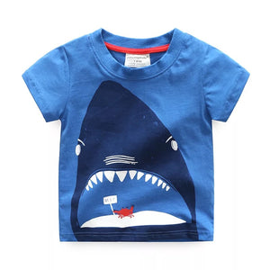 T-shirt manches court blue requin 2-5