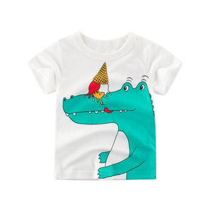T-shirt manches court blanc crocodile 2-5