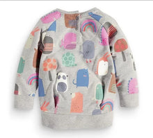 Pull gris animaux 2-7