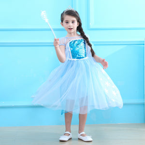 Costume de Halloween princess Elsa 3-7 ans