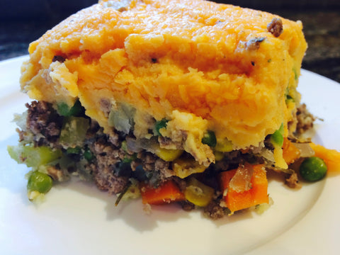 Sweet Potato Shepherd's Pie (serves 2-3 adults)