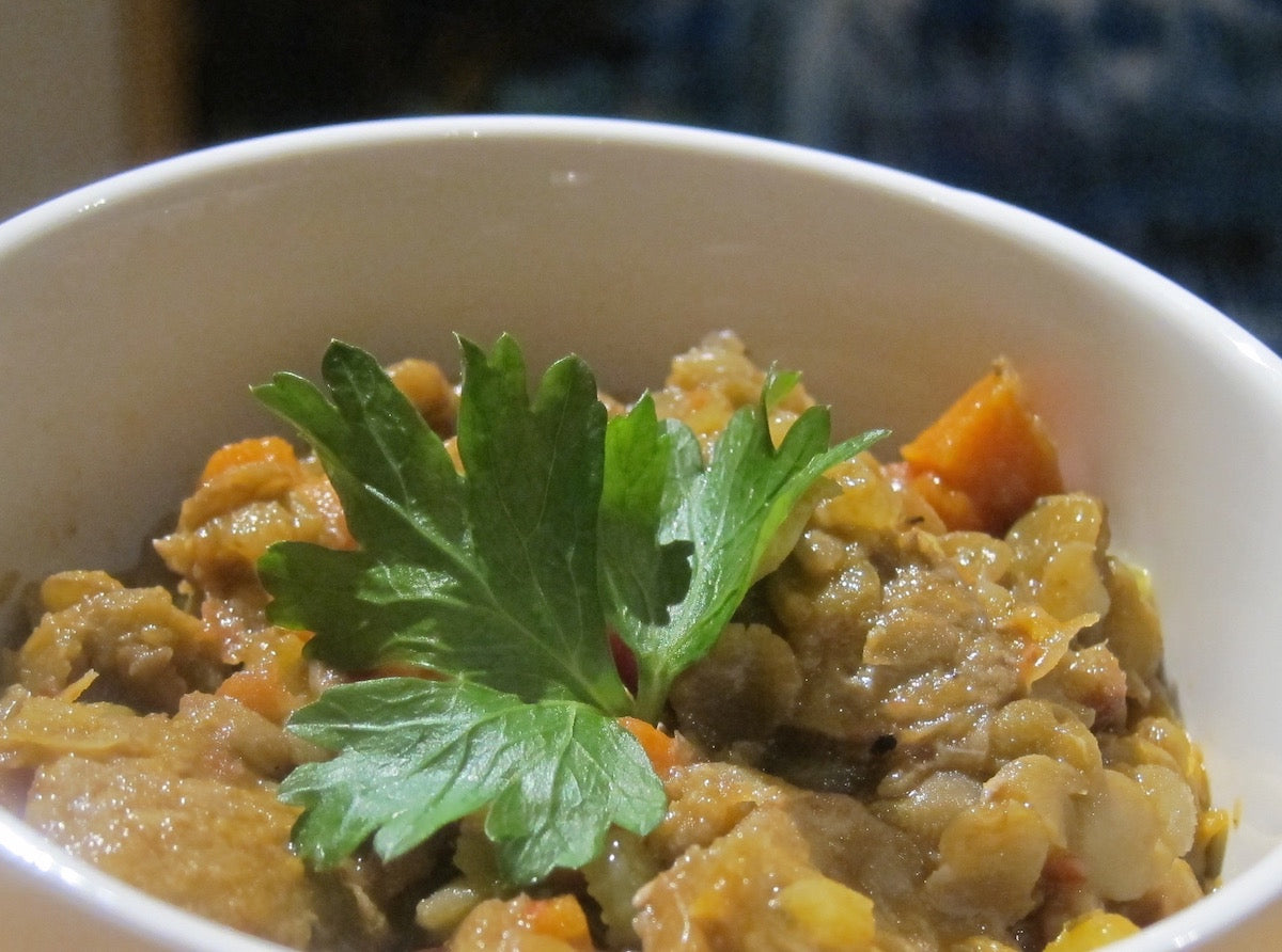 Chicken Sausage and Lentil Stew (Serves 2-3 Adults)