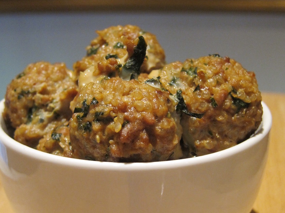 Mini Chicken Meatballs with Quinoa and Kale (Package of 15)