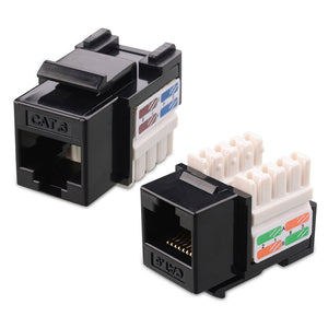 Cat6 RJ45 Keystone Jack - Black Hammer Solutions Fort Smith AR Networking Wiring Cabling Technology IT Services