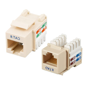 Cat6 RJ45 Keystone Jack - Ivory Hammer Solutions Fort Smith AR Networking Wiring Cabling Technology IT Services
