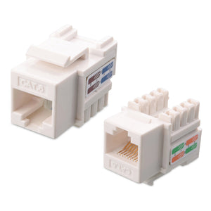 Cat6 RJ45 Keystone Jack - White Hammer Solutions Fort Smith AR Networking Wiring Cabling Technology IT Services