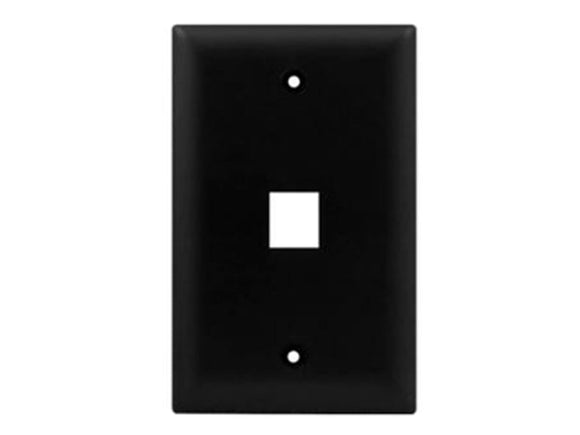 Wall Plate for Keystone, 1 Hole - Black Hammer Solutions Fort Smith Arkansas Technology IT Services Networking Cabling