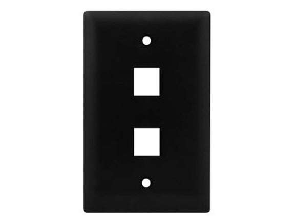 Wall Plate for Keystone, 2 Hole - Black Hammer Solutions Fort Smith Arkansas Technology IT Services Networking Cabling