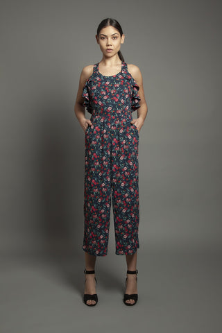 Daisy Jumpsuit Pomegranate