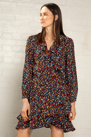 Mini Wrap Dress Confetti Print