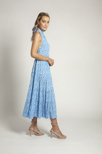 Azra Dress Blue Brush