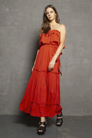 Melissa Maxi Dress Lava