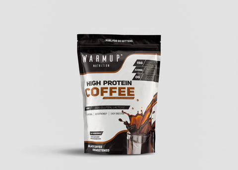 WarmUp High Protein Coffee | Non GMO Brazilian Espresso + Hydrolyzed Whey Protein Isolate | Low Carb | Sugar Free | Keto Coffee Friendly | All Natural
