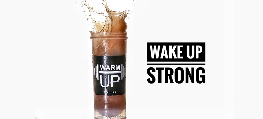 WarmUp Protein Coffee Powder | All-Natural, High Quality Whey Hydrolysate with Over a Double Shot of Espresso Caffeine | Served Hot/Iced | Gluten and Lactose Free | Low Carb/Keto | 18 Servings