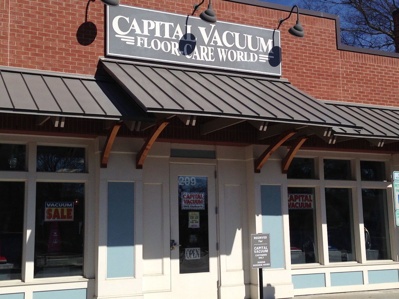 Capital Vacuum Floor-Care World 1666 N Market Dr Raleigh NC 27609 (919) 878-8530 209 E Chatham St Cary NC 27511 www.cleanhomshop.com