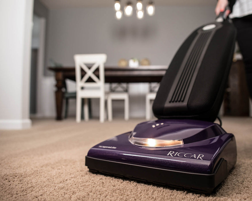 Riccar Supralite R10S Upright Vacuum, weighs just 9 pounds!