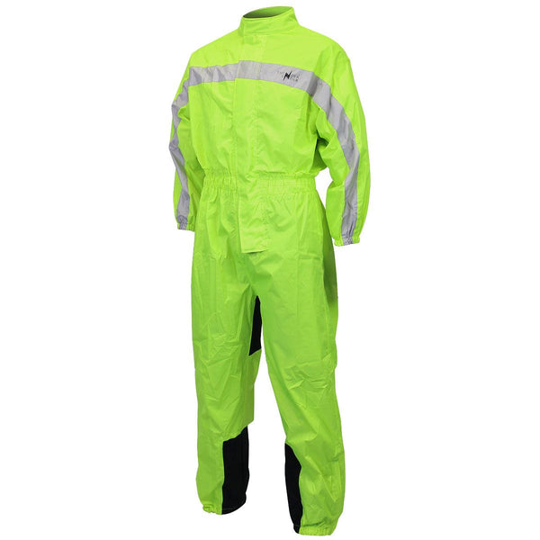 One Piece High Visibility Yellow Rain Suit