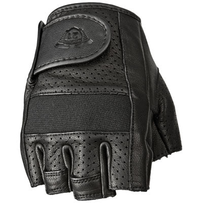 Highway 21 Half Jab Perforated Fingerless Gloves