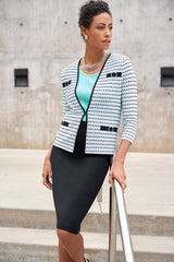 Plus Size Crystal Accent Knit Jacket