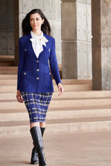 Four Pocket Knit Jacket Color Majestic Blue