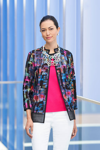 Rainbow Soutache Jacket – Ming Wang