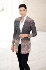 Long Ombre Tweed Jacket – Ming Wang