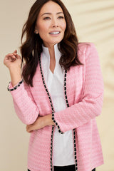 Plus Size Chain Trim Jacket