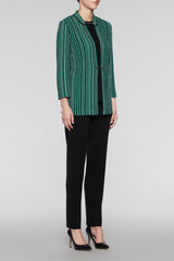 Bead Trim Jacket Color Pine/Black
