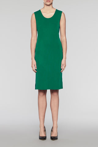 Pine Scoop Neck Dress Color Pine