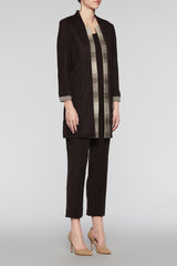 Layered Longline Jacket Color Coffee/Cedar/Woodchip