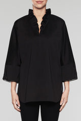 Breezy Ruffle Tunic Color Black