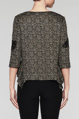 Asymmetrical Sequin Tunic Color Cedar/Black