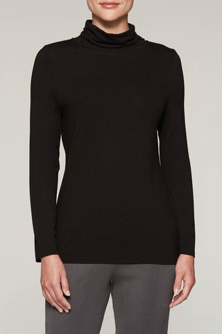 Relaxed Jersey Turtleneck Color Black