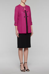 Basketweave Grommet Jacket Color Fireweed/Black
