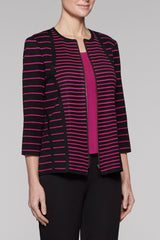 Tailored Fit Zip Jacket Color Fireweed/Black