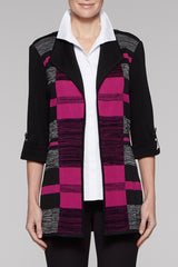 Fireweed Mélange Block Jacket Color Black/Fireweed/Stonecliff