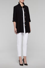 Mother-of-Pearl Button Jacket Color Black