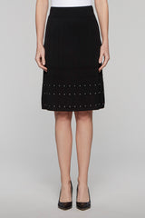 Pointelle Space Skirt Color Black/Ivory