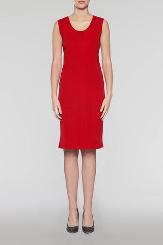Bushberry Scoop Neck Dress Color Bushberry Red