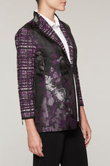 Artisan Floral Blazer Color Jelly/Black/Chai