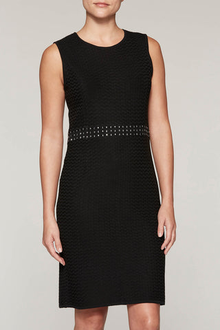 Jewel-Studded Dress Color Black